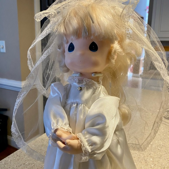 precious moment bride doll with stand